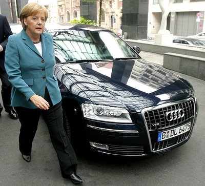 photo of Angela Merkel Audi A8 - car
